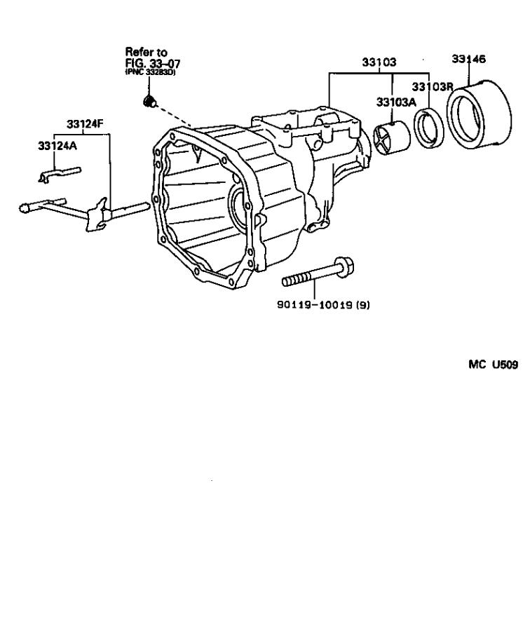 Toyota 4Runner Housing sub-assembly, extension(mtm