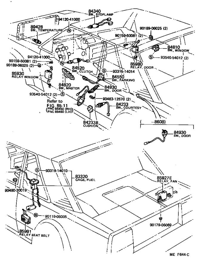 Toyota MR2 Breaker assembly, wiring circuit, no. 1