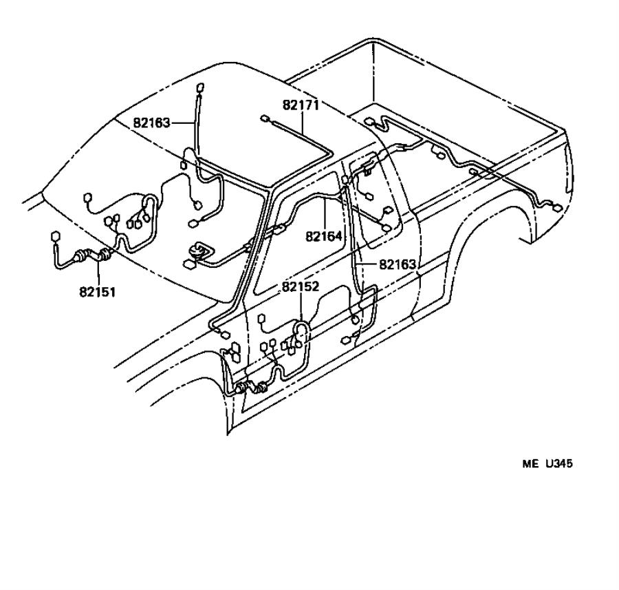 Toyota T100 Cover; retainer. Connector; headlamp harness