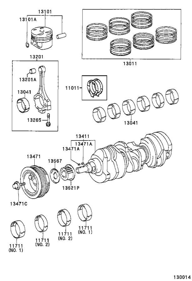 1998 Toyota Sienna Engine Connecting Rod Bolt. Engine