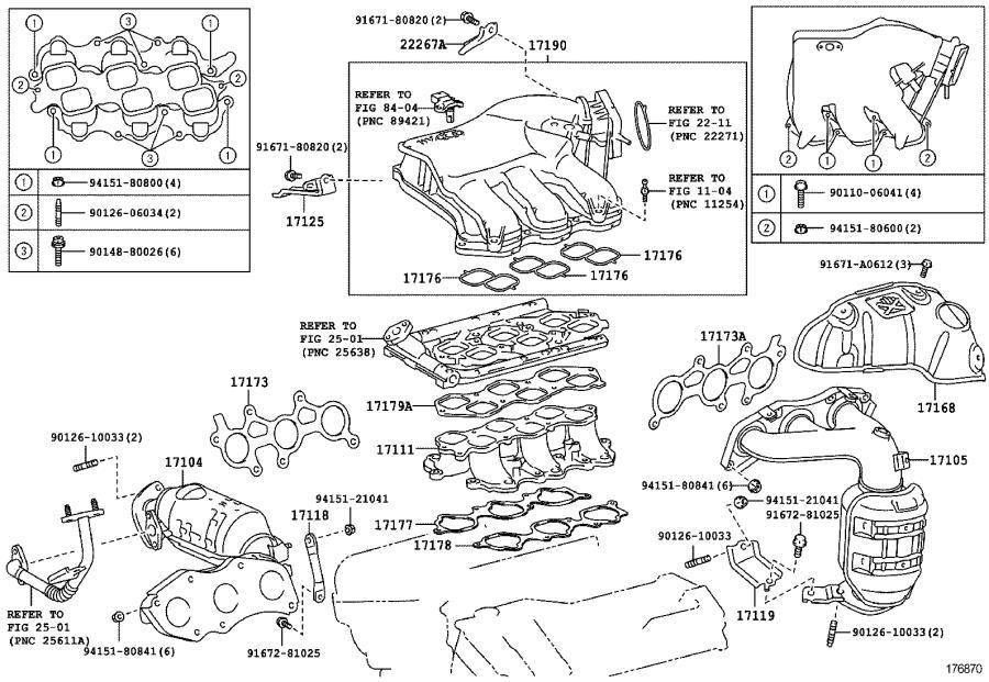 2008 Toyota Sienna Gasket, air surge tank to intake
