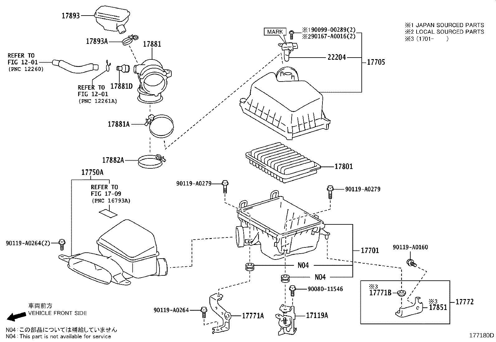 Toyota Camry Air Cleaner Bracket Engine