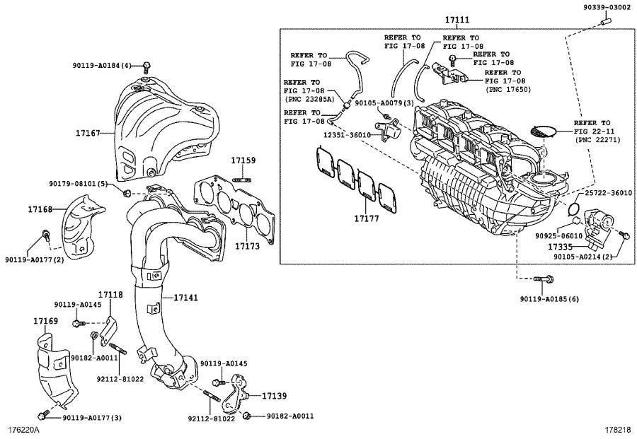 Diagram 2005 Toyota Sienna Throttle Body