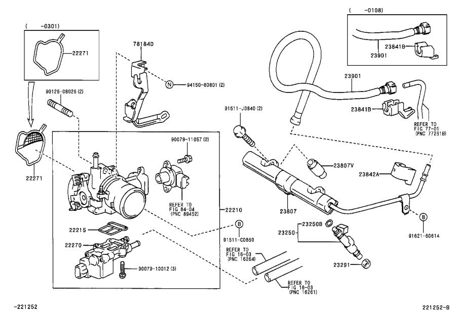 Toyota Echo Fuel Injection Idle Air Control Valve Gasket