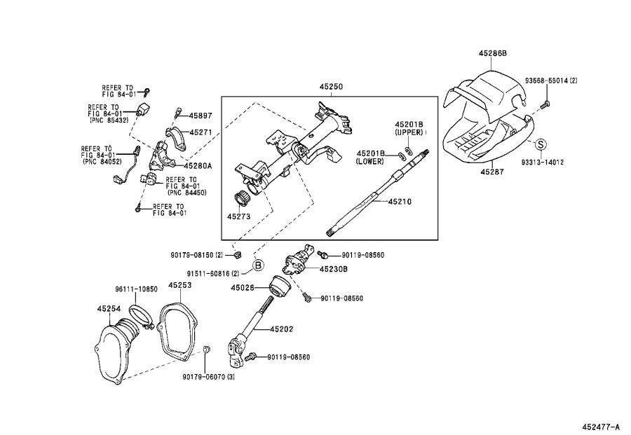 Toyota Highlander Cover sub-assembly, steering column hole