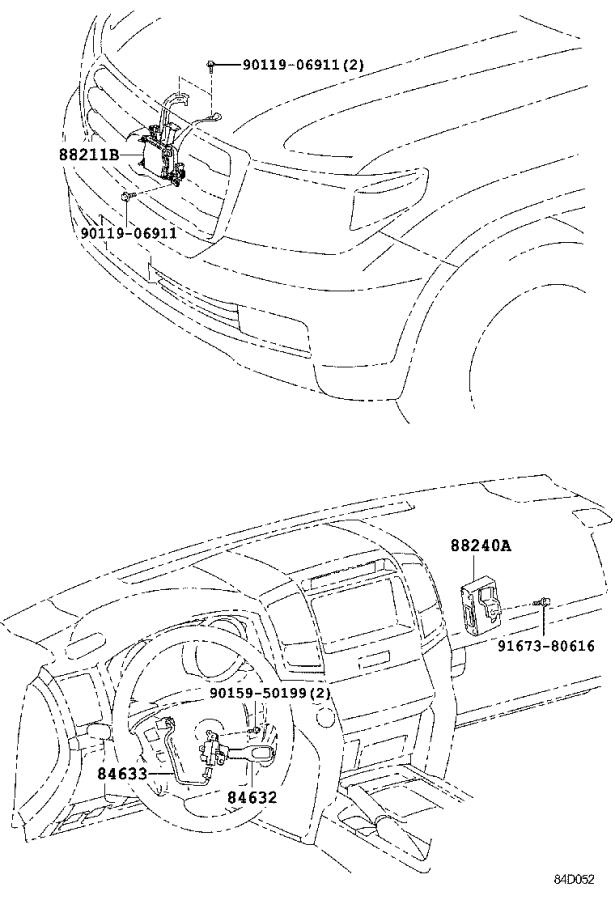 Toyota Land Cruiser Computer assembly, distance control