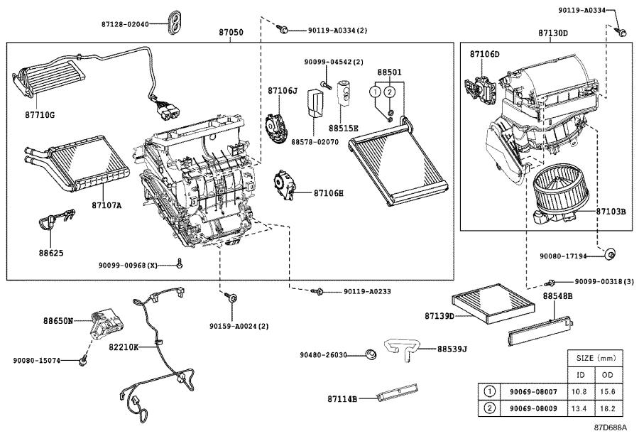 Toyota Corolla Amplifier assembly, air conditioner. Usa