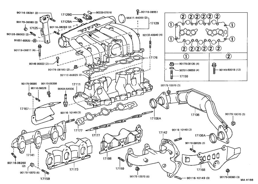 Toyota Truck Bolt, stud(for manifold to cylinder head