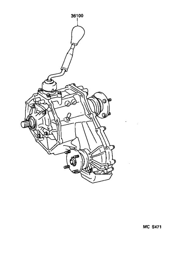 Toyota Tacoma Lever assembly, transfer high & low shift