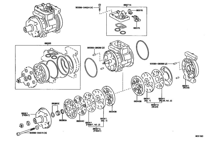 Toyota Celica Washer (for magnet clutch). Usa, air