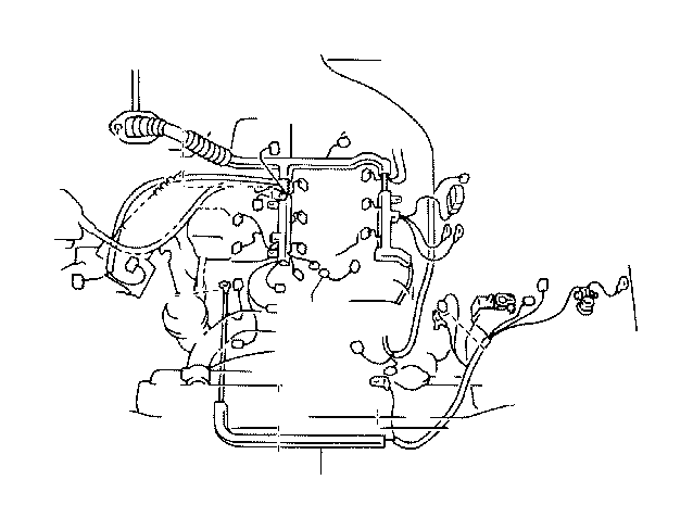 Toyota Tacoma Wire, engine. Brackets, clamps, electrical