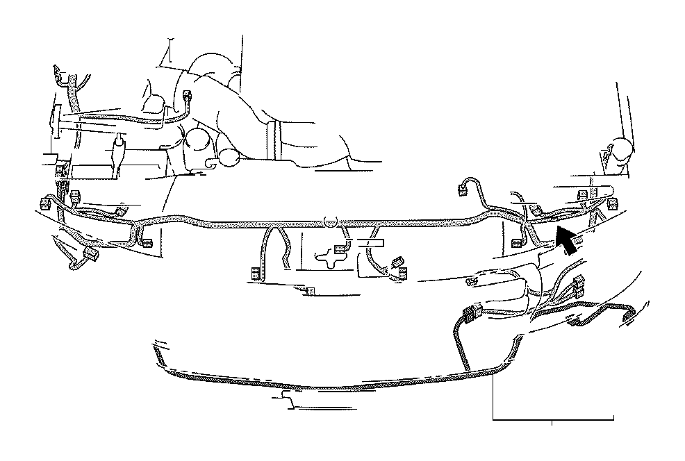 Toyota Land Cruiser Wire, engine room, no. 4. Connector