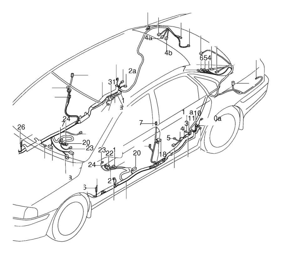2020 Volvo XC40 Door Wiring Harness. REPAIR TERMINAL