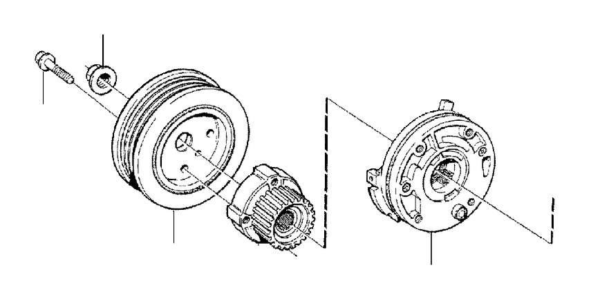 2001 Volvo S60 Engine Timing Crankshaft Sprocket. PULLEY