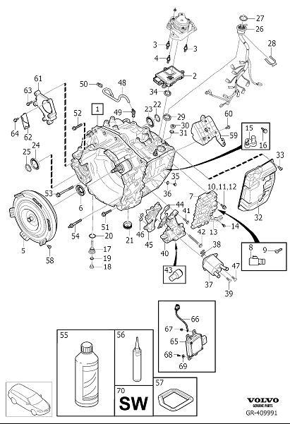 2007 Volvo Wiring Harness. Automatic Transmission