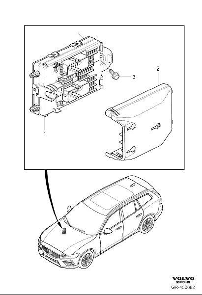 2020 Volvo V60 Fuse Box Cover. CH 3749. CH 3896. CH 9465