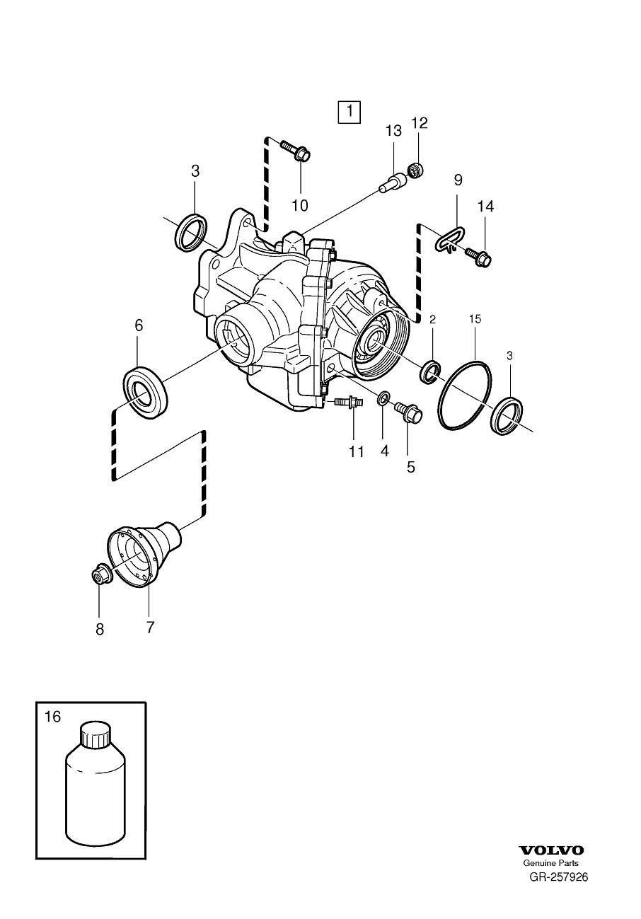 2007 Volvo Transfer Case Output Shaft Seal. SEALING