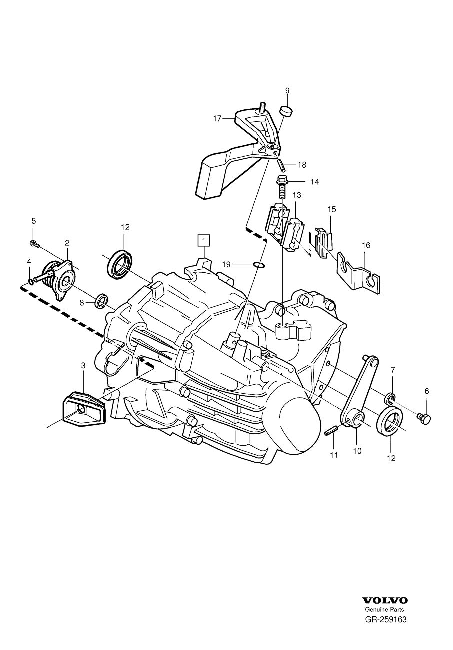 2006 Volvo Manual Transmission Output Shaft Seal. SEALING