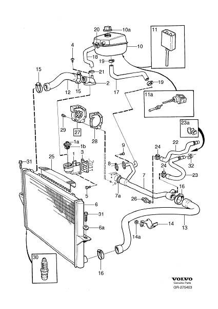 1996 Volvo 850 Engine Coolant Thermostat. THERMOSTAT KIT