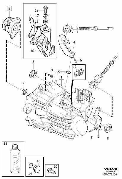 2006 Volvo V50 Transmission oil. Manual, Gearbox, EXC