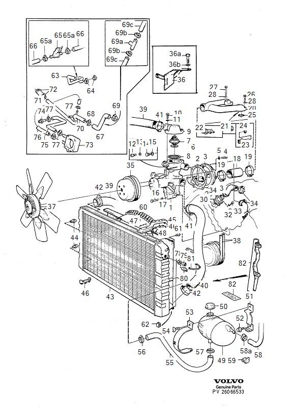 1983 Volvo 760 Engine Coolant Thermostat. THERMOSTAT KIT