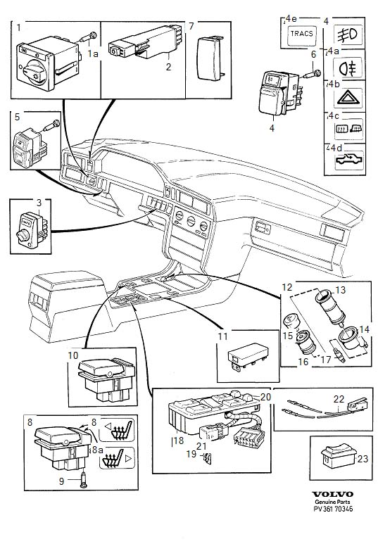 1997 Volvo 850 Instrument Panel Light Bulb. INTERIOR BULB
