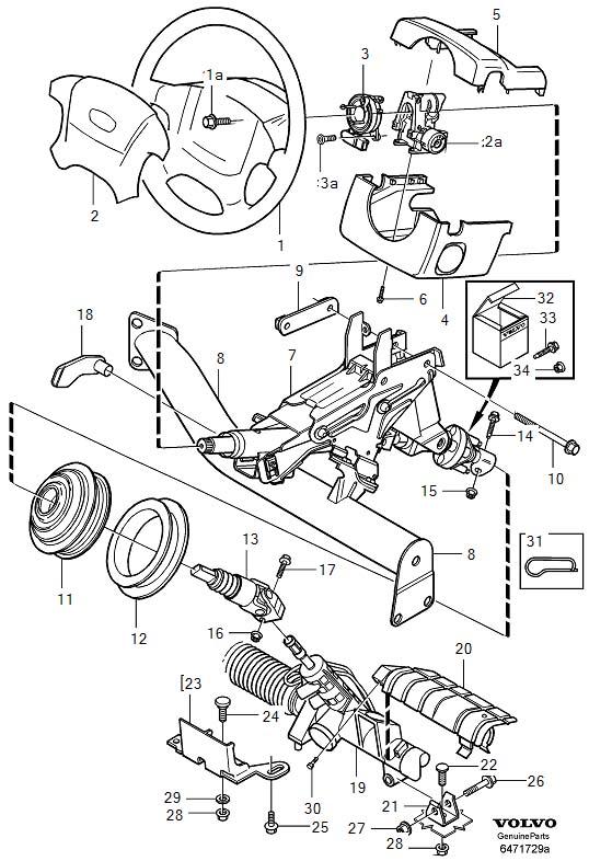 1999 Volvo V70 XC Air Bag Clockspring. CONTACT UNIT