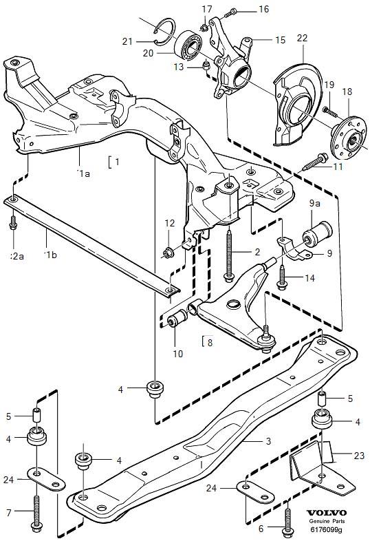2012 Volvo Suspension Control Arm Bushing (B4184SM/SJ