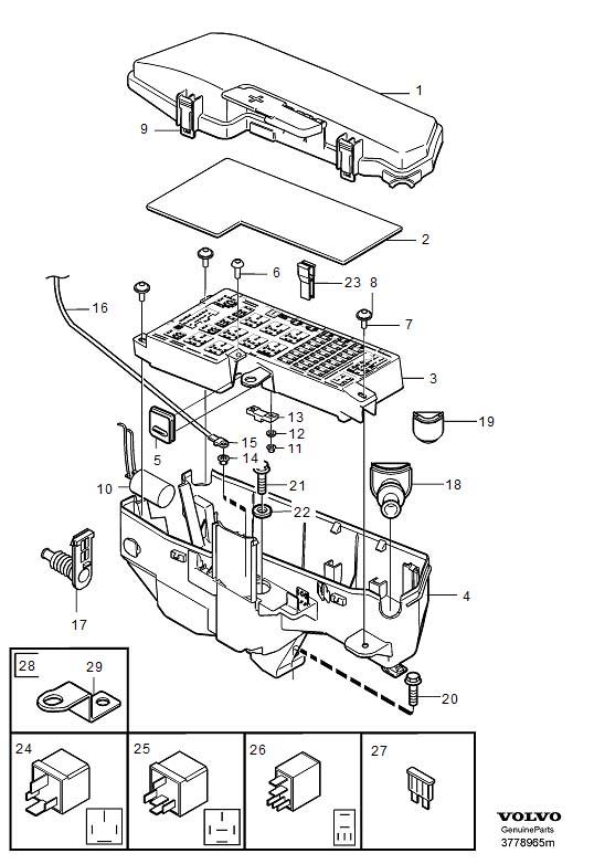 2000 Volvo V70 XC Junction Block (Inner). JUNCTION BOX