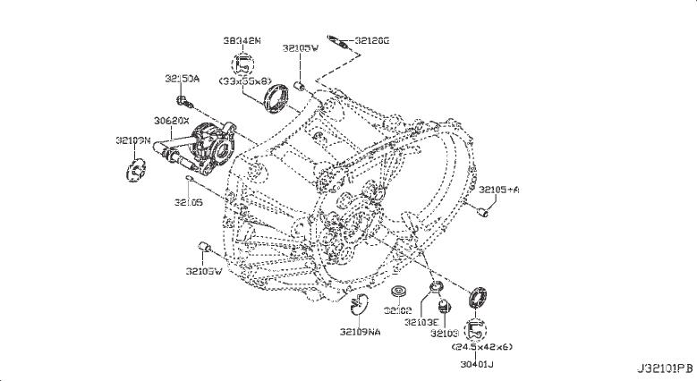 Nissan Sentra Magnet Transmission. CLUTCH, HOUSING, CASE