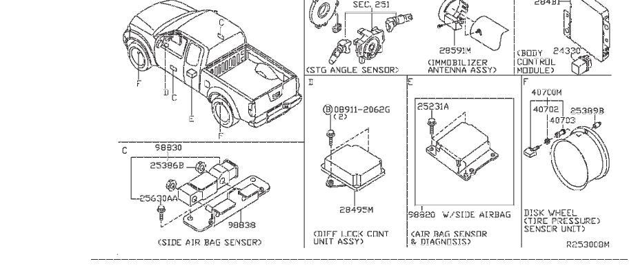 2012 Nissan Steering Wheel Position Sensor. INST, BODY
