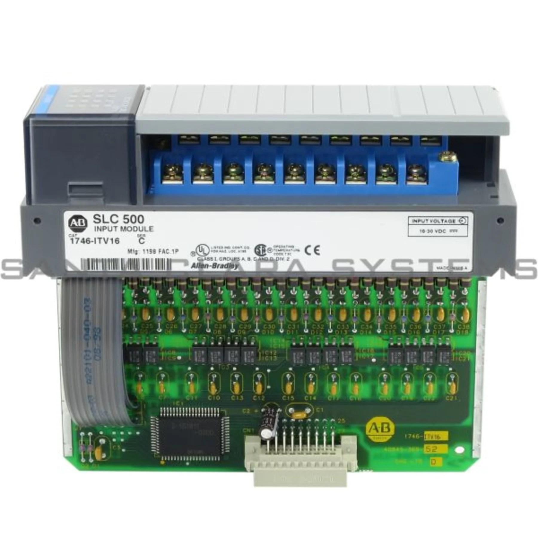 hight resolution of allen bradley 1746 itv16 input module slc 500 product image