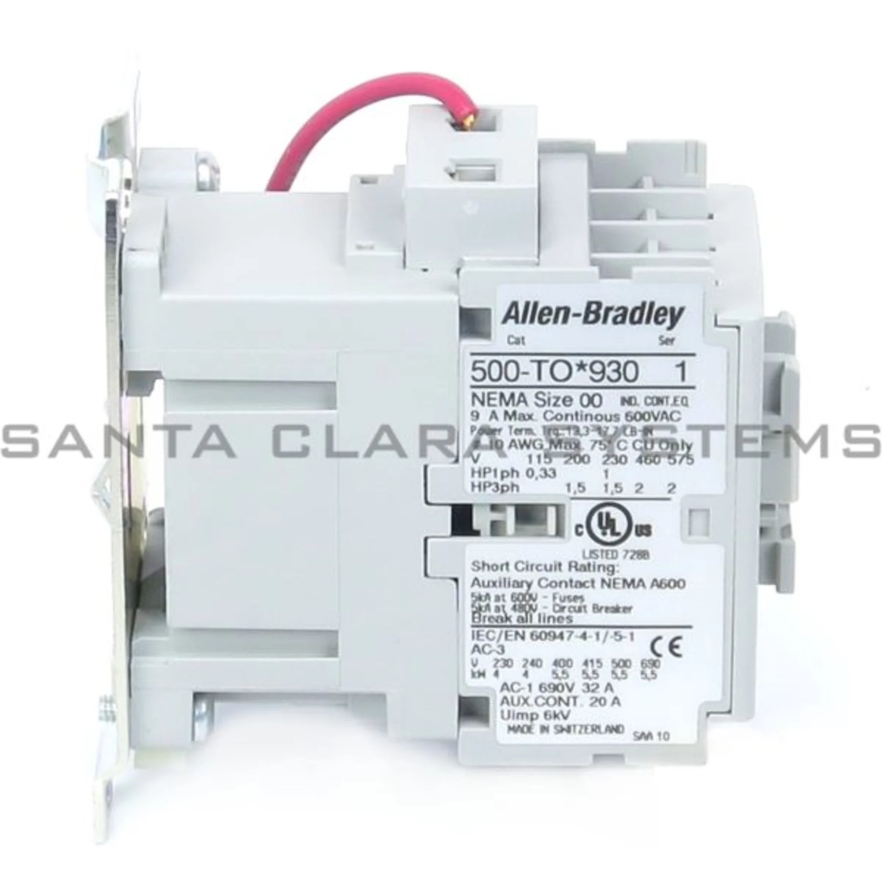 hight resolution of allen bradley 500 tod930 contactor product image