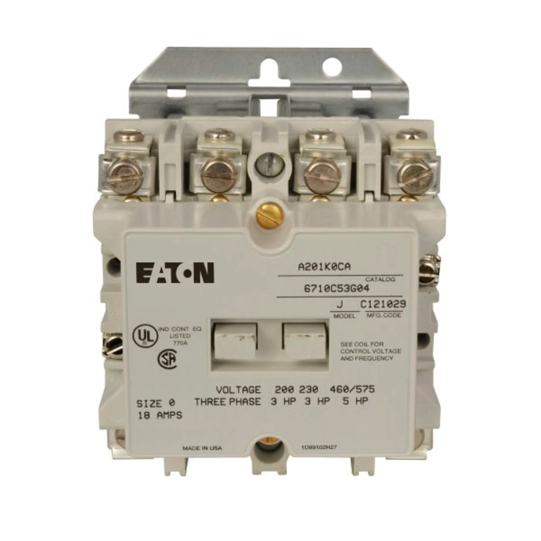 hight resolution of cutler hammer a201k0ca reversing contactor product image