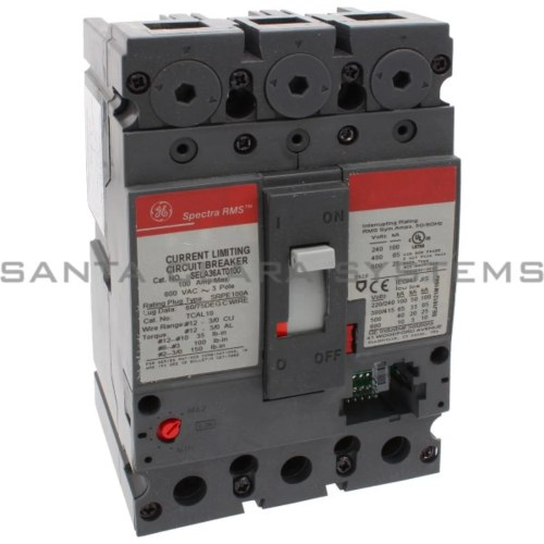 small resolution of general electric sela 36at 0100 molded case circuit breaker 100 amp 600 volt ac