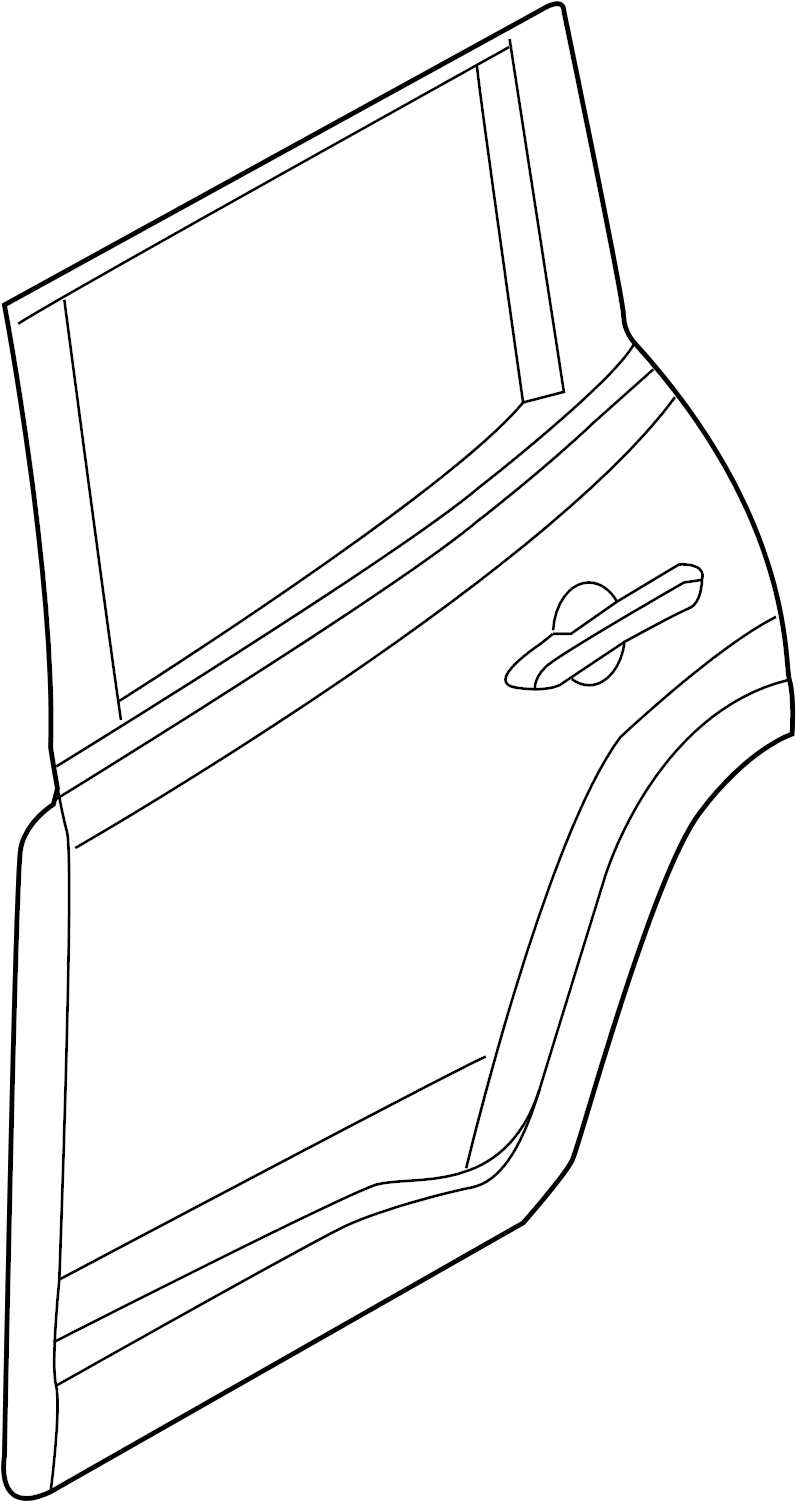 Toyota RAV4 Door Shell (Left, Rear). Panel, Door