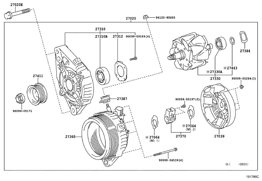 Toyota 4Runner Alternator. REMANUFACTURED Alternator