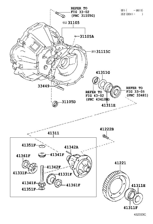Toyota Yaris Automatic Transmission Differential Carrier