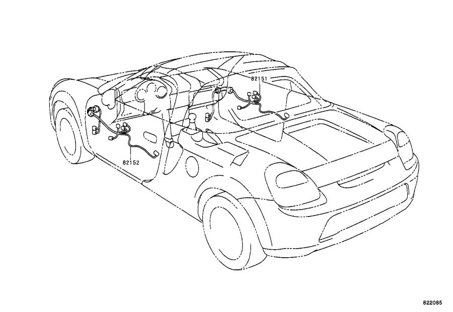 Toyota MR2 Connector, wiring harness. Engine, clamp