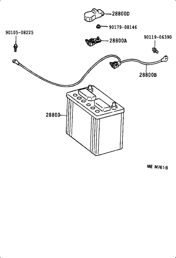 Toyota Camry Battery Cable Terminal End. Terminal, Battery