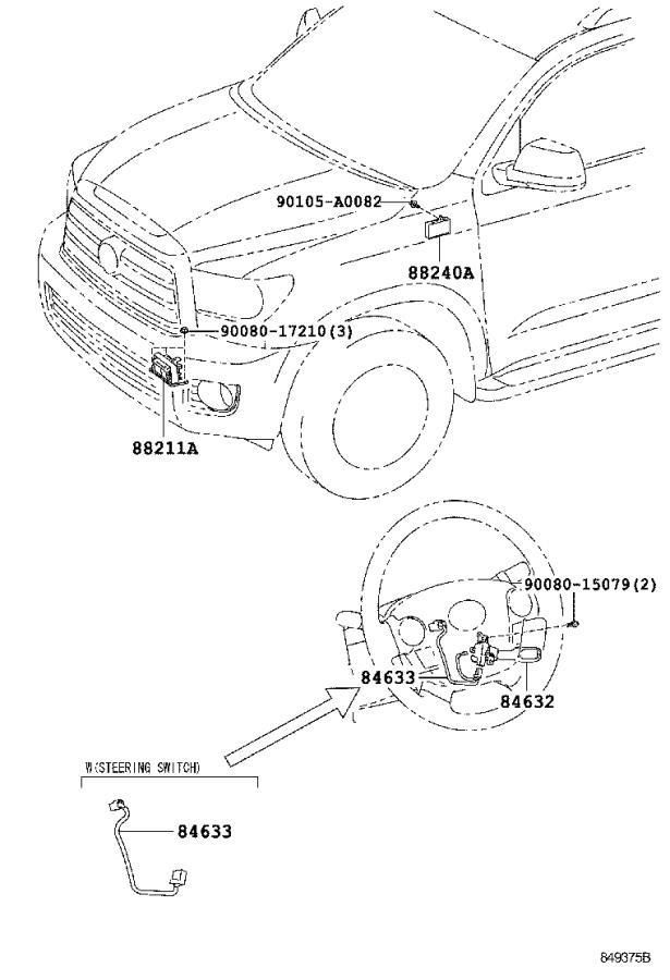 Toyota Sequoia Wire, cruise control switch. Electrical