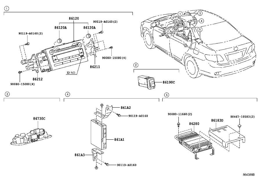 Toyota Corolla Receiver assembly, radio. Electrical