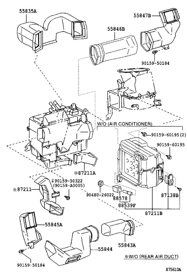 Toyota Tundra Cable sub-assembly, airmix damper control