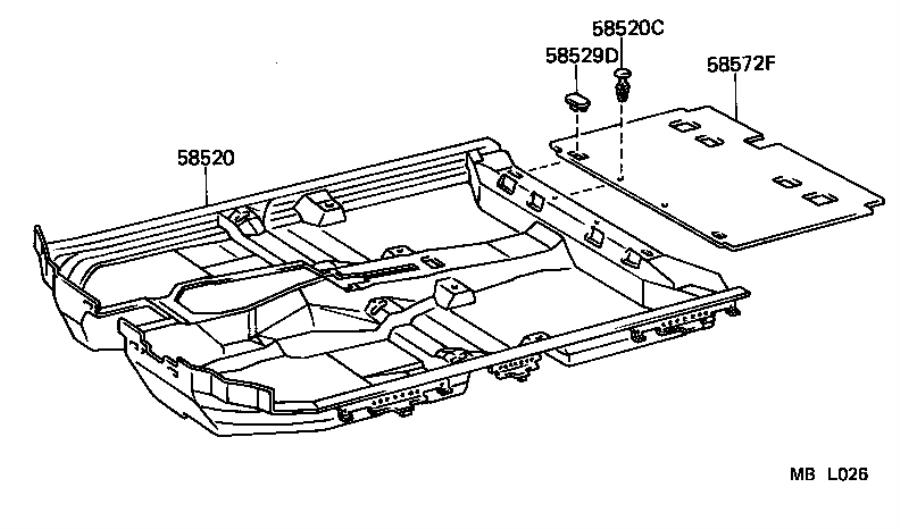 Toyota Camry Carpet assembly. Front floor; front floor