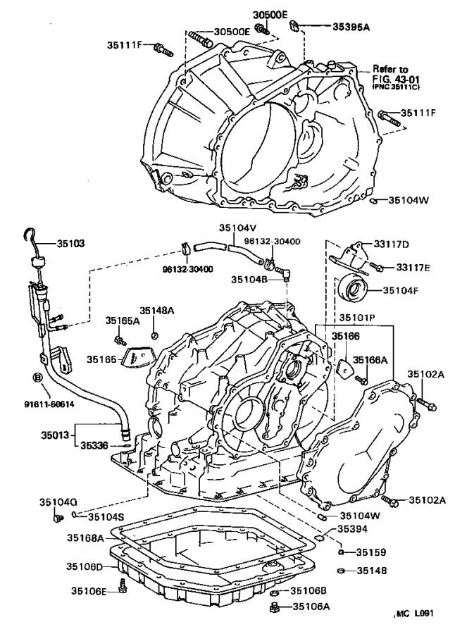 Toyota Corolla Protector. Automatic transmission case