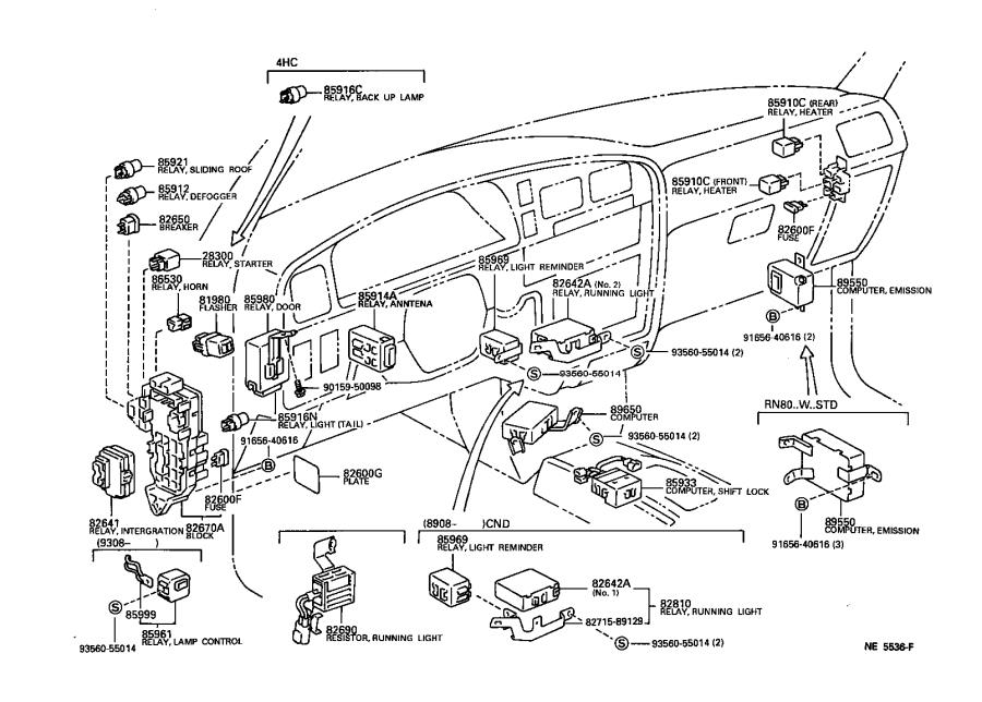Toyota 4Runner Breaker assembly. Wiring circuit, no. 1