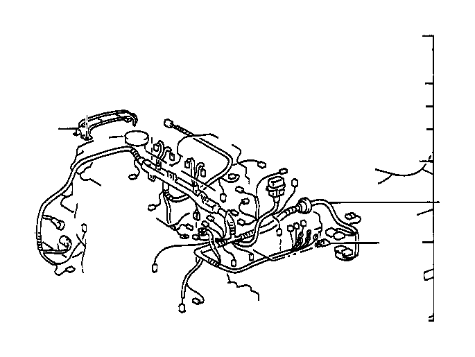 Toyota Corolla Connector, wiring harness. Wire, engine