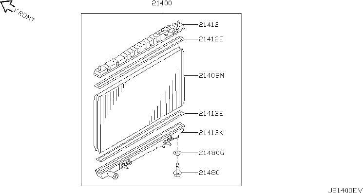 2020 INFINITI Engine Coolant Reservoir Bracket (Rear