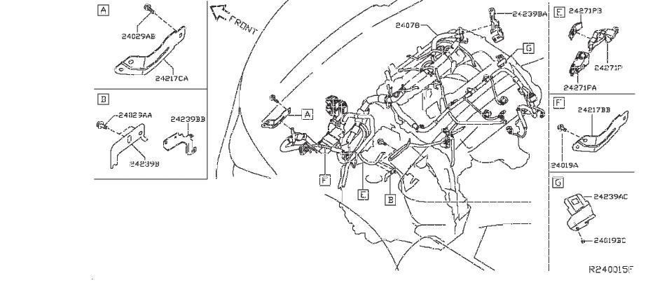 2020 INFINITI JX35 Harness SUB, Engine Room. BODY, CONTROL