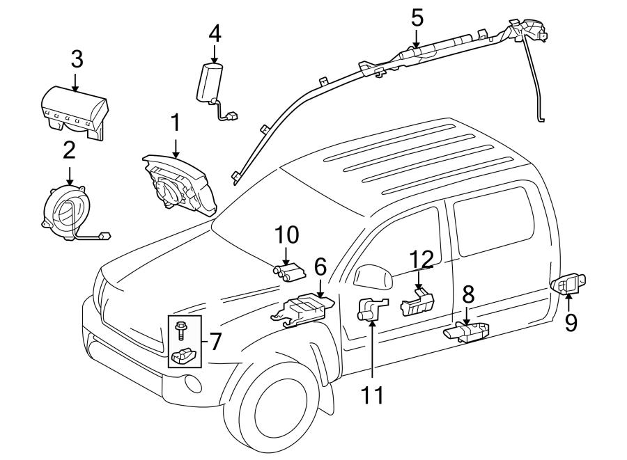 Toyota Tacoma Air Bag Control Module. Make, Replace